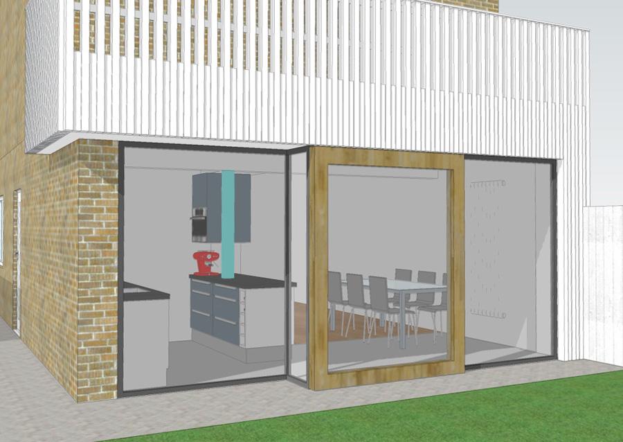 Uitbouw woonkamer en keuken | robin budel